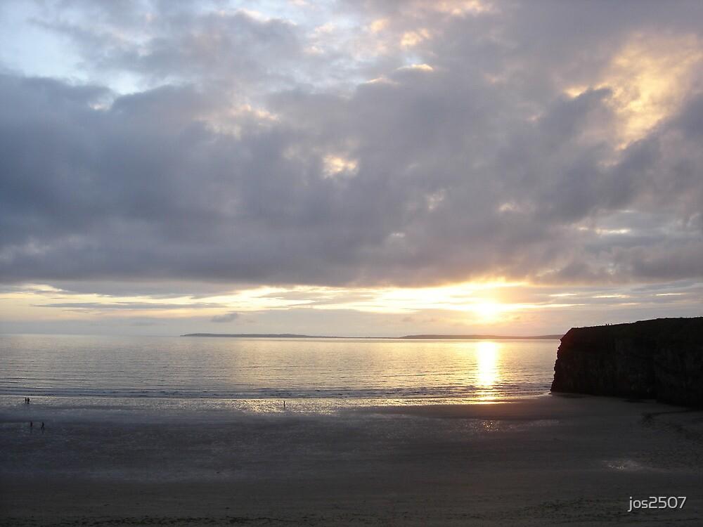 Sunset in Ballybunion, Kerry, Ireland by jos2507