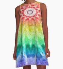 Rainbow Tie Dye 2 A-Line Dress