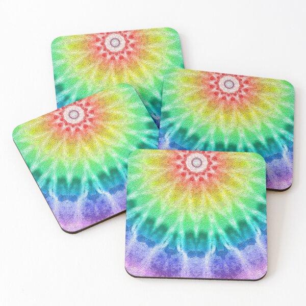 Rainbow Tie Dye 2 Coasters (Set of 4)