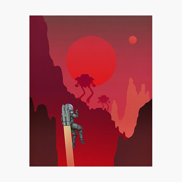 Blood Red Mars Photographic Print