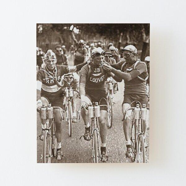 Intimes Porträt der Tour de France der 1920er Jahre Aufgezogener Druck auf Holz