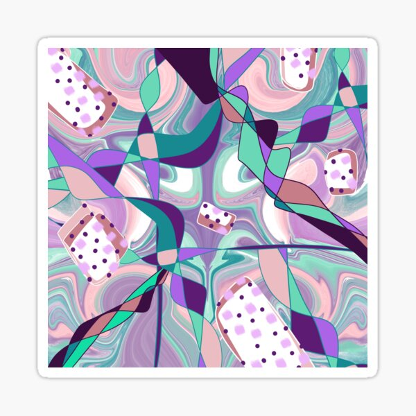 Purple grape crush abstract with polka dots Sticker