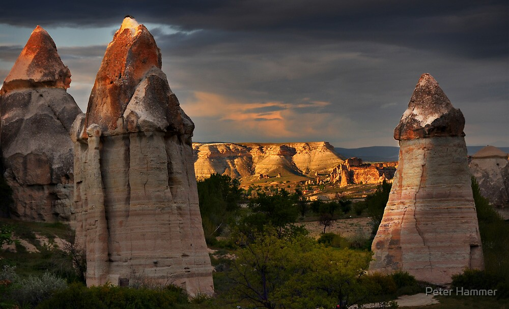 Fairy Chimneys and Mountain #2 by Peter Hammer