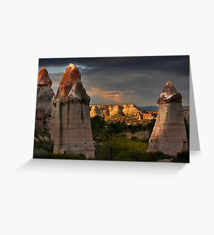 Fairy Chimneys and Mountain #2 Greeting Card