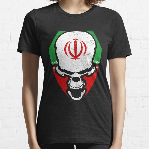 Iranian flag with skull Essential T-Shirt