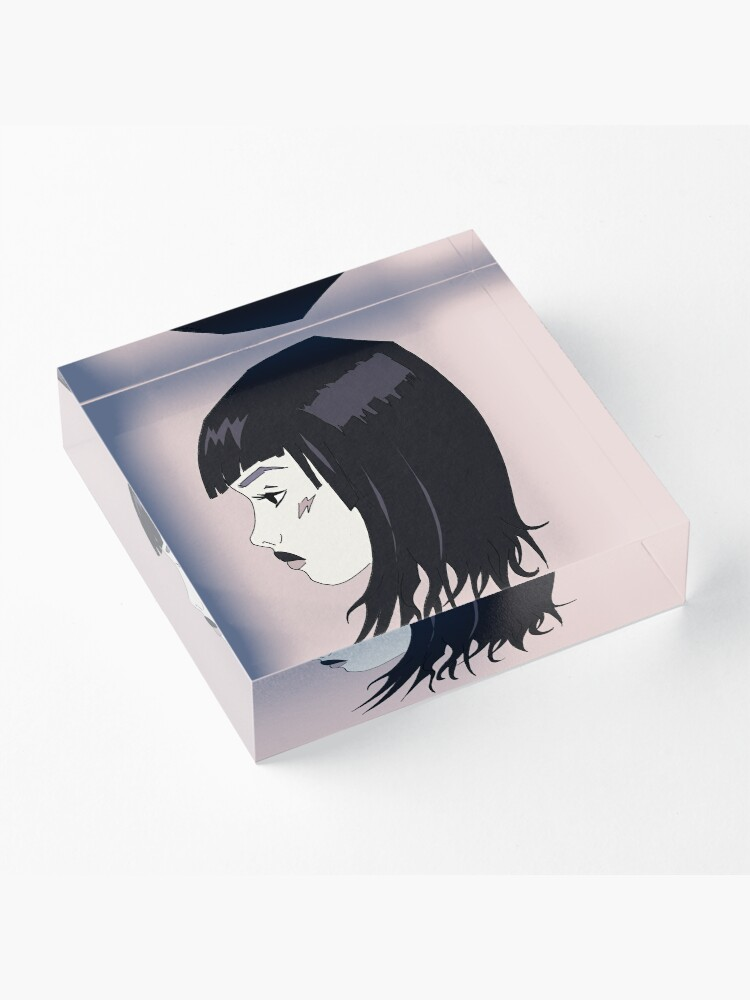 Alternate view of Whatever  - goth girl Acrylic Block