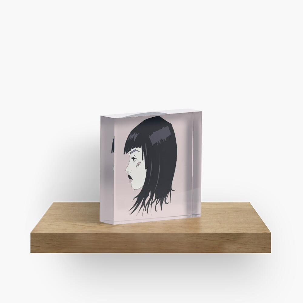 Whatever  - goth girl Acrylic Block