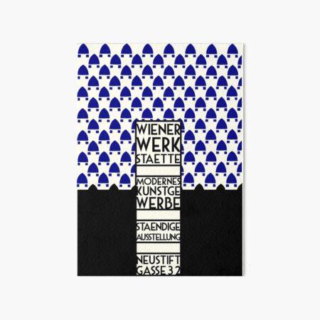 Wiener Werkstaette retro vintage artwork expo Art Board Print