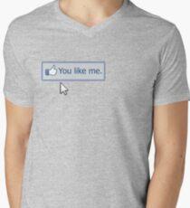 You Like Me Men's V-Neck T-Shirt