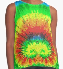 Tie Dye Rainbow Stained Glass Sleeveless Top