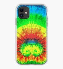 Tie Dye Rainbow Stained Glass iPhone Case