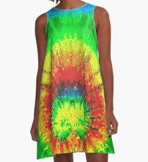 Tie Dye Rainbow Stained Glass A-Line Dress