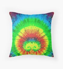 Tie Dye Rainbow Stained Glass Floor Pillow
