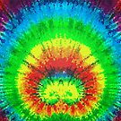 Tie Dye Rainbow Stained Glass by technoqueer