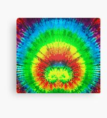 Tie Dye Rainbow Stained Glass Canvas Print