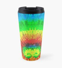 Tie Dye Rainbow Stained Glass Travel Mug