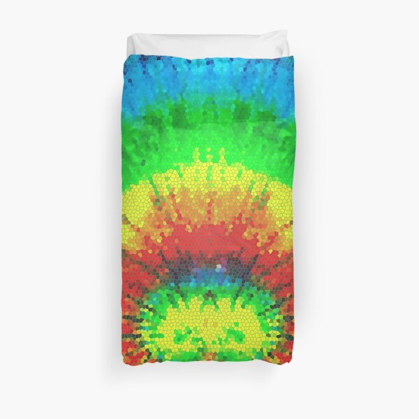 Tie Dye Rainbow Stained Glass Duvet Cover