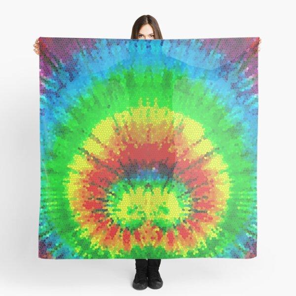 Tie Dye Rainbow Stained Glass Scarf