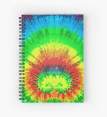 Tie Dye Rainbow Stained Glass Spiral Notebook