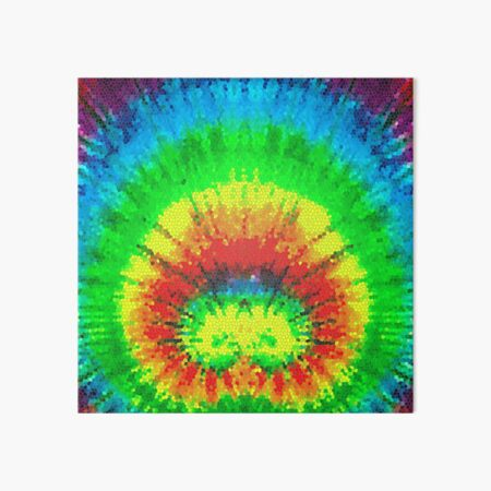 Tie Dye Rainbow Stained Glass Art Board Print