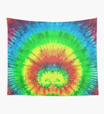 Tie Dye Rainbow Stained Glass Tapestry