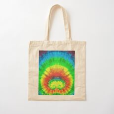 Tie Dye Rainbow Stained Glass Cotton Tote Bag