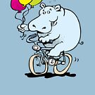 hippo on a bike by Matt Mawson