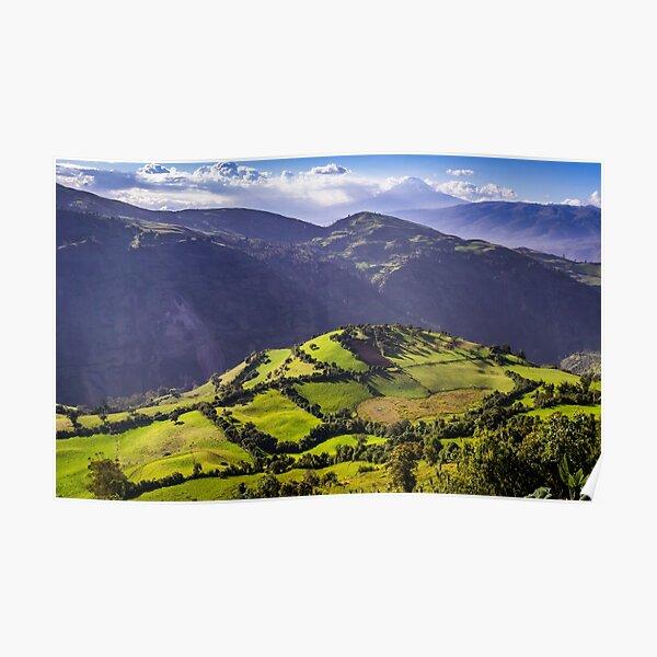 Andean landscape near Riobamba, Ecuador Poster