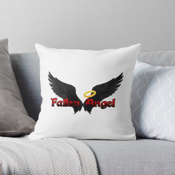Fallen Angel Wings Throw Pillow