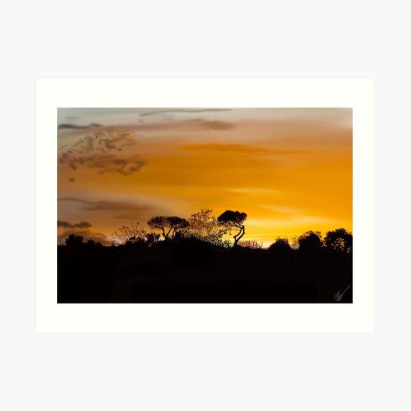 Napoli Sunset Art Print