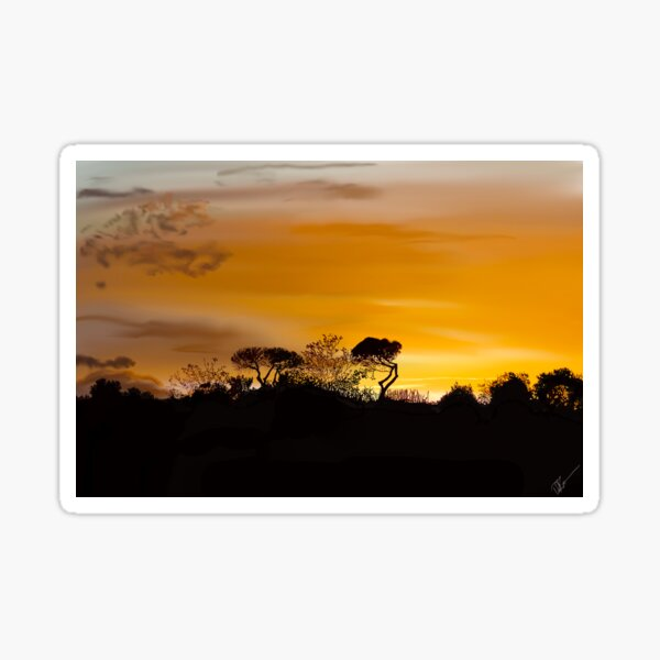 Napoli Sunset Sticker