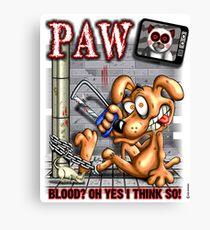 PAW (parody) Canvas Print