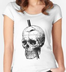 The Skull of Phineas Gage Vintage Illustration Vector Women's Fitted Scoop T-Shirt