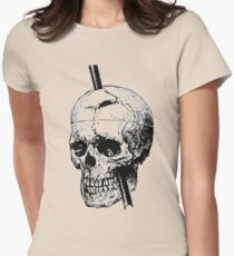 The Skull of Phineas Gage Vintage Illustration Vector Womens Fitted T-Shirt