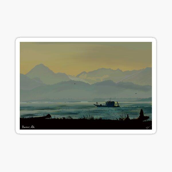 Coming home from Kachemak Bay, Homer Alaska Sticker