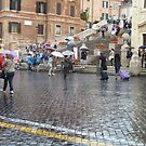 The Spanish Steps In The Rain by joycee