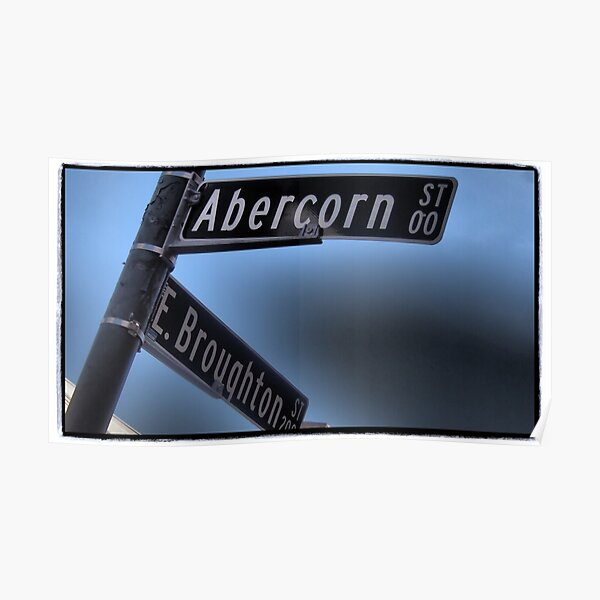 On the Corner of Abercorn Poster