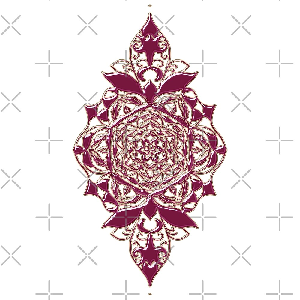 Damask - Red by alliemac