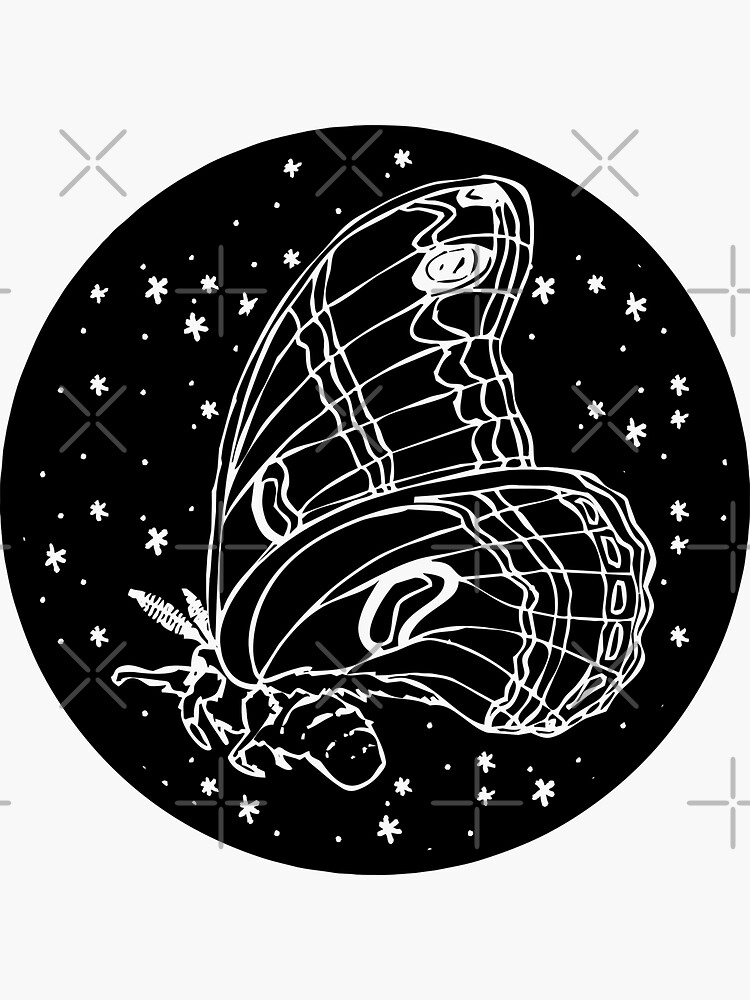 cosmic moth illustration by craftordiy