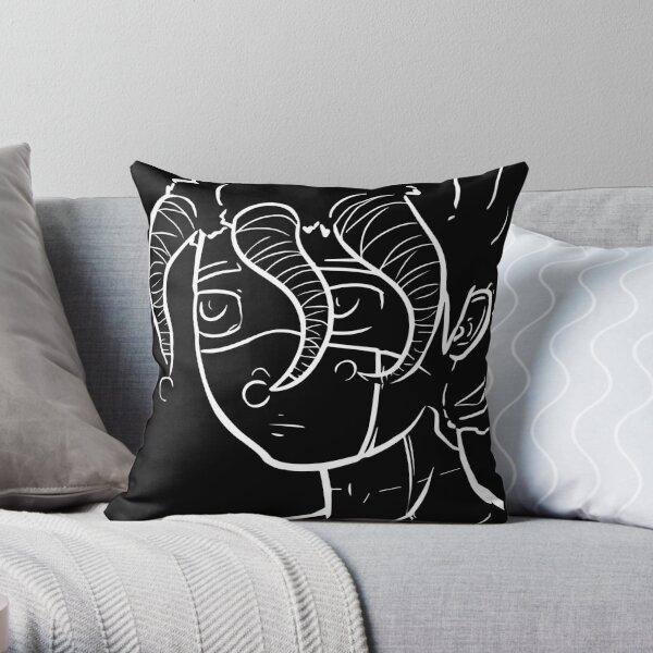Galza line portrait Throw Pillow