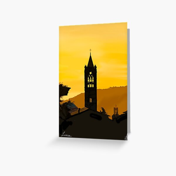 Lucca Italy in the Evening Greeting Card