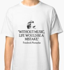 Camiseta clásica Música