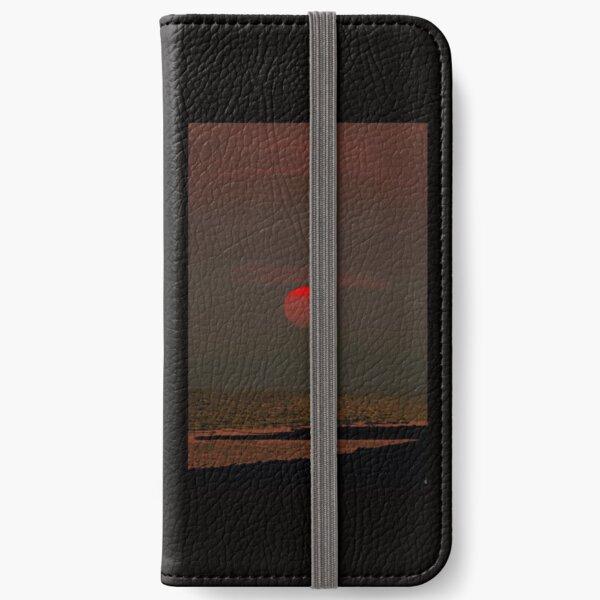 Sunset over Homer Alaska iPhone Wallet
