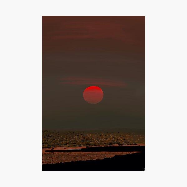Sunset over Homer Alaska Photographic Print