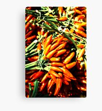 Spicy fingers Canvas Print