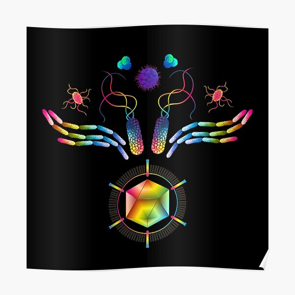 Microbial Wings Poster