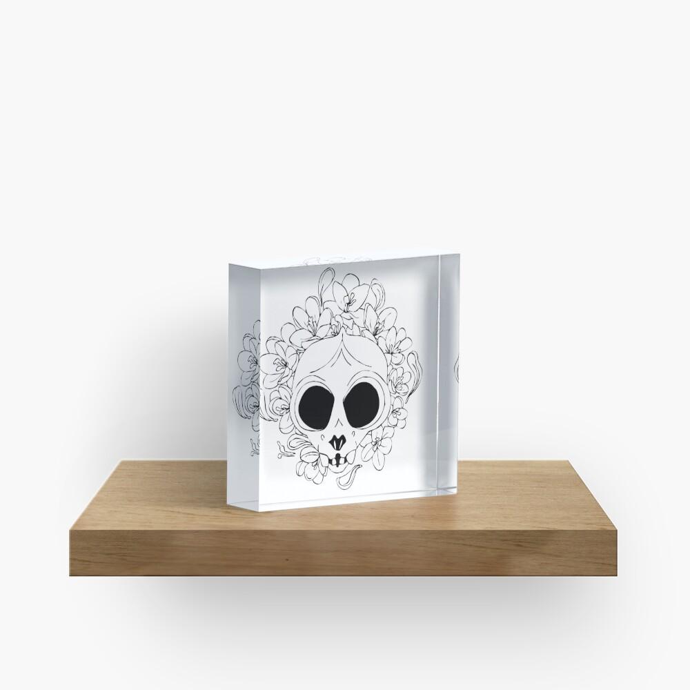 Crocus skull Acrylic Block
