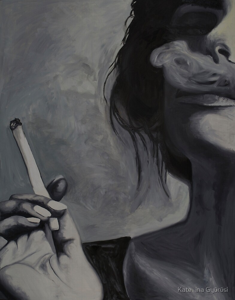 The Smoker Oil Painting by Kateřina Gyürüsi