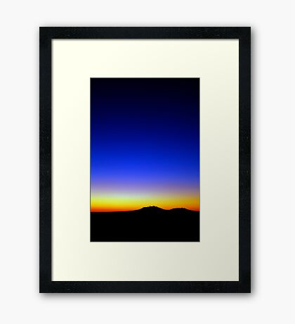 Lost in the sunset Framed Print