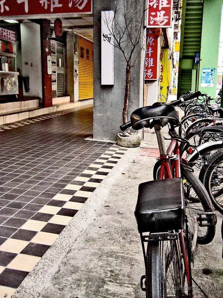 Checkered Ground Bike Taipei by MarybethLensel